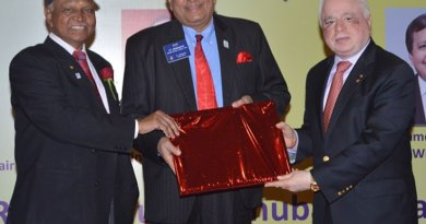 From left: DG Narayan Nayak, WinS VIce Chair P T Prabhakar and WinS Global Chair Sushil Gupta.