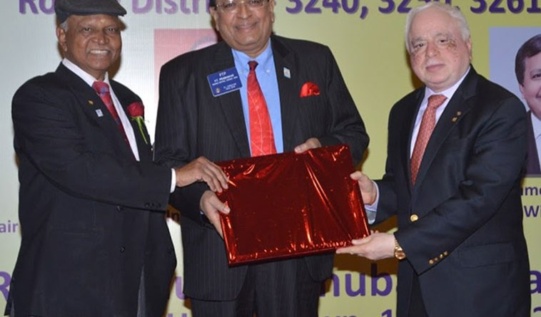 From left: DG Narayan Nayak, WinS VIce Chair P T Prabhakar and WinS Global Chair Sushil Gupta.