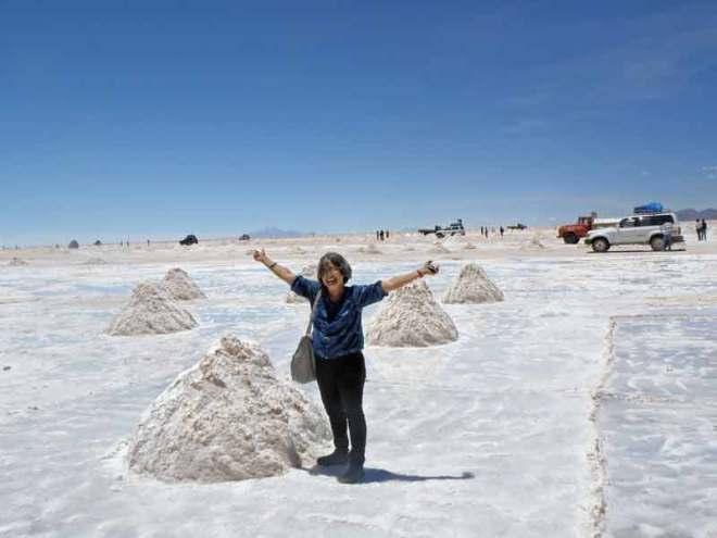 The author explores a tiny stretch of the salt desert.