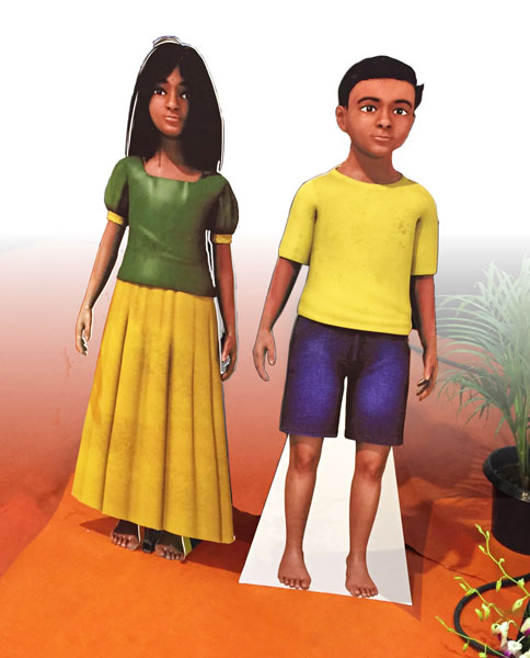 The mascots for RILM's Asha Kiran programme.