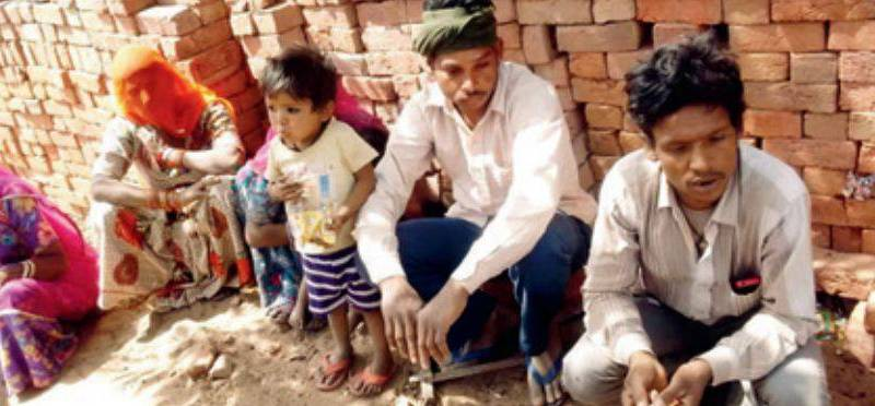 Rescued bonded labourers from Jaipur.