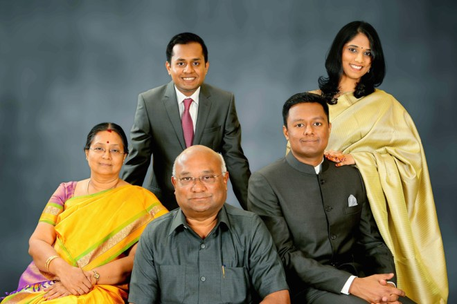 From (L): Mala, Goutham, Basker, Gopal and his wife Divya.