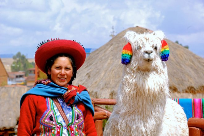 A Quechua girl at the Chinchero Weaving Centre.