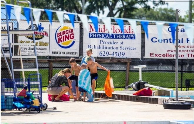 Swimmers finish up their lessons at the Newton Perry Aquatic Center at the College of Central Florida. Photo: Alan Youngblood