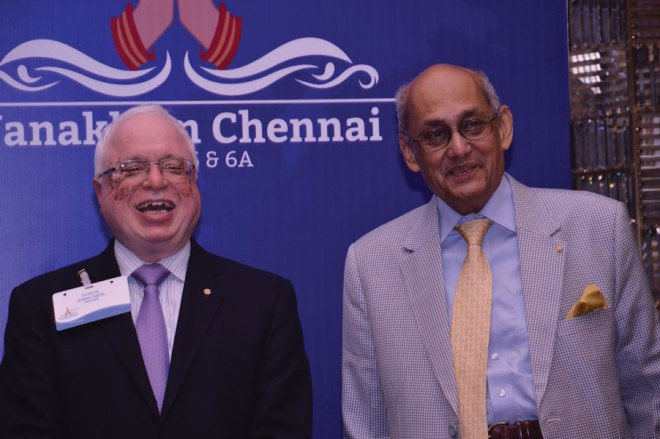 Excellent Fellowship: TRF Trustee Sushil Gupta with PRIP Kalyan Banerjee.