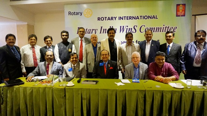 RID P T Prabhakar and WinS Chair Sushil Gupta with Zone and District Coordinators  at the WinS Committee Meet in Chennai.