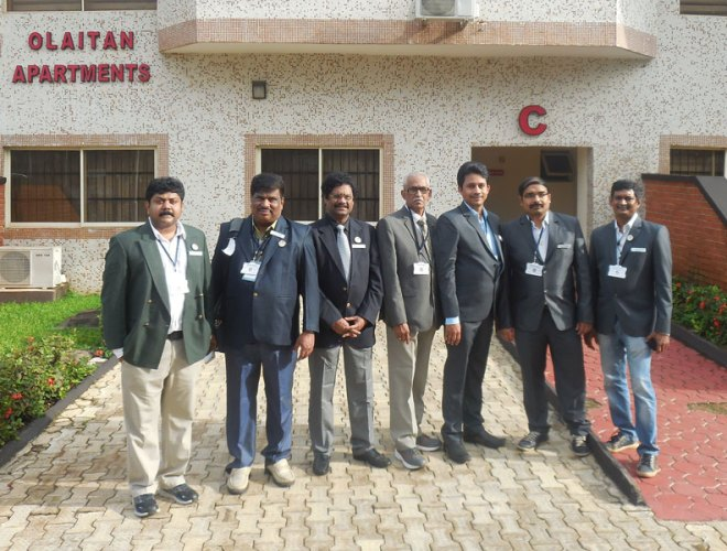 The team of Indian doctors who were part of the medical mission to Ogun.