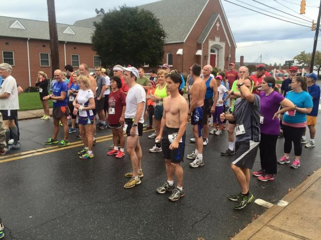 Runners prepar to run in the last year's 5k fundraiser. Photo: Submitted