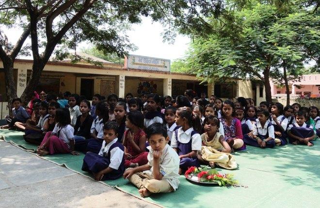 Children at the Gundewadi Zilla Parishad School.