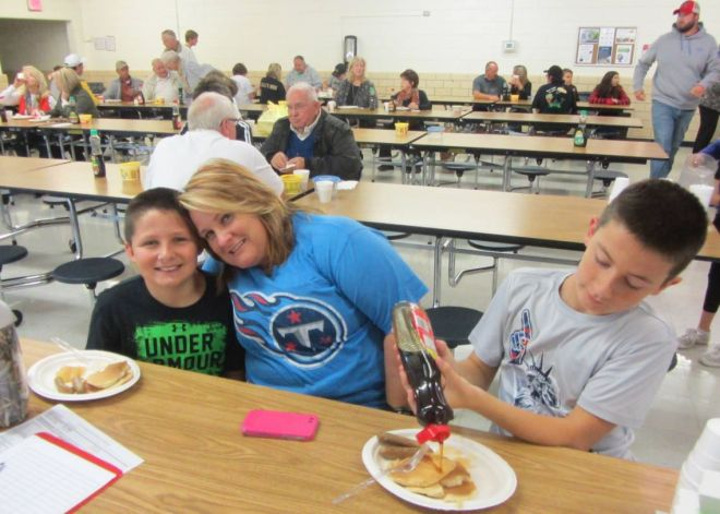 Visitors enjoy last year's breakfast fundraiser. Photo: Submitted