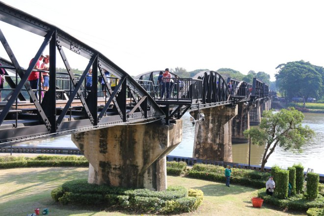 The famous bridge on the River Kwai.