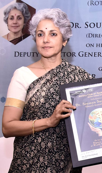 Dr Soumya Swaminathan, Deputy Director General of Programmes, WHO and Director General, ICMR.