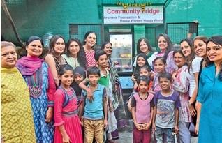 The community fridge was inaugurated in Juhu.