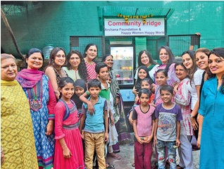 The community fridge was inaugurated in Juhu.