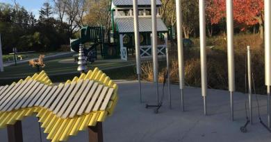 "Large instruments that could be played by children and adults would make up the ""harmony"" park that the Rotary Club of Naperville is interested in funding in the city. Photo: Erin Hegarty / Naperville Sun"