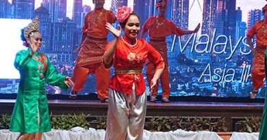 A Malaysian dance performance.