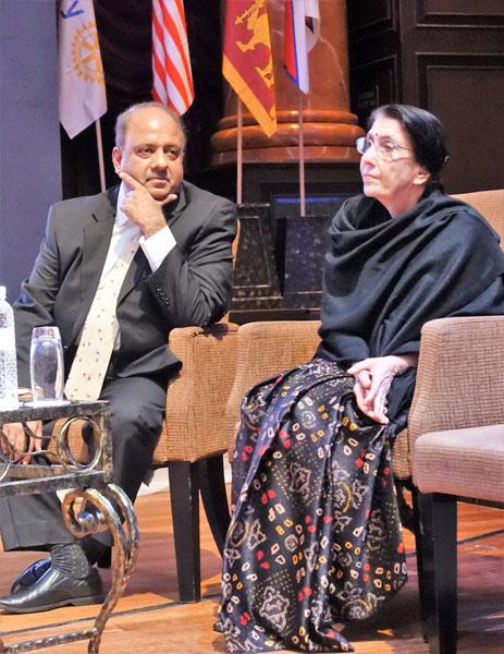 Session Chair PRID Shekhar Mehta with Usha Saboo.