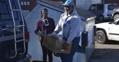 Rotary donates Christmas baskets for needy people