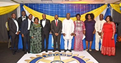 The event held at the Golden Tulip Hotel in Accra on Saturday was graced by many Rotarians as well as invited guests.