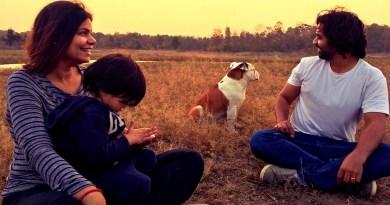 Harshita and Aditya Shakalya with their son Kaizen and pet Carlos.