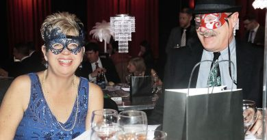 Kathi and Chuck Parkins enjoy the festivities during the Rotary Club of Maryville's annual Masquerade Gala and Auction on Friday at the Capitol Theatre. Photo: Daryl Sullivan/The Daily Times