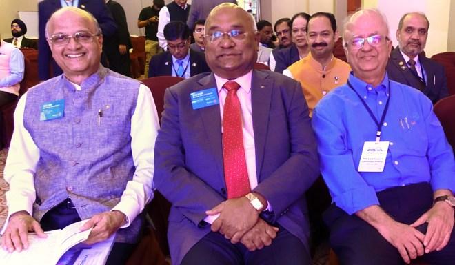 TRF Trustee Elect Gulam Vahanvaty, RID C Basker and EMGA Ashok Panjwani.