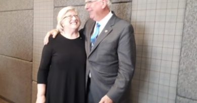 Urging Rotarians to make a difference is RI President Ian Riseley and his wife Juliet. Photo: Farida Master/Times Online