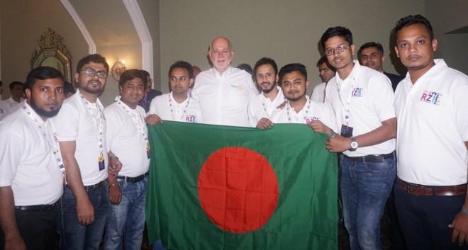 With District Rotaract Representatives in Mumbai.