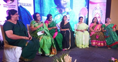 From L: Pramila, Usha Kumar, Sharada Sundaram, Kasturi Shankar, Rajashree Thandy, Anita David and Hemalatha Kesavan.