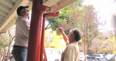 Rotary clubs came together to give a facelift to Homeless Services Centre in Santa Cruz. Photo: Donna Maurillo, Rotary Assistant District Governor