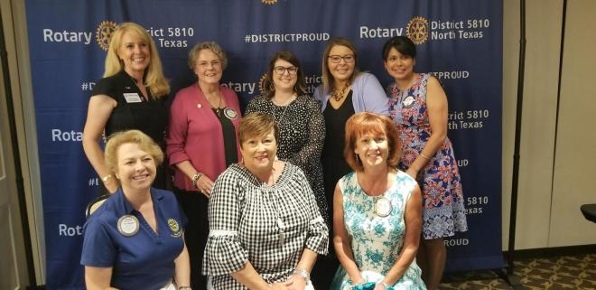 Women Rotarians celebrate their accomplishments at an event hosted by the Rotary Club of Carrollton-Farmers Branch in Texas.