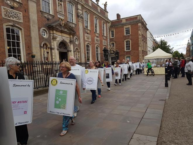 Rotarians taking out a march in Worcester.
