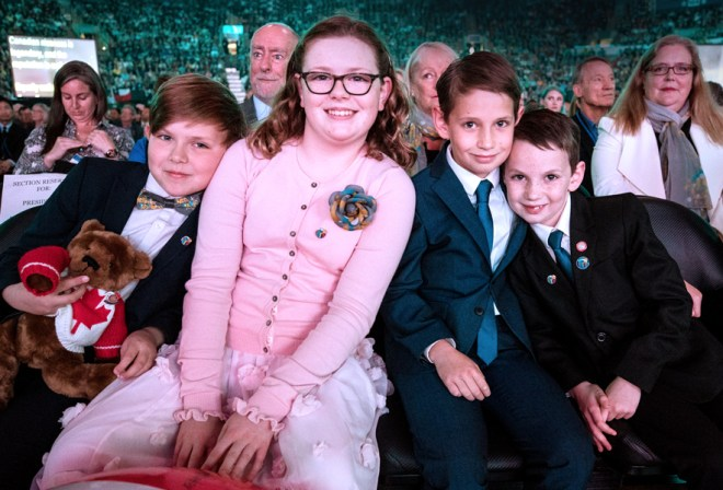 RI President Ian Riseley's grandchildren at the Convention.