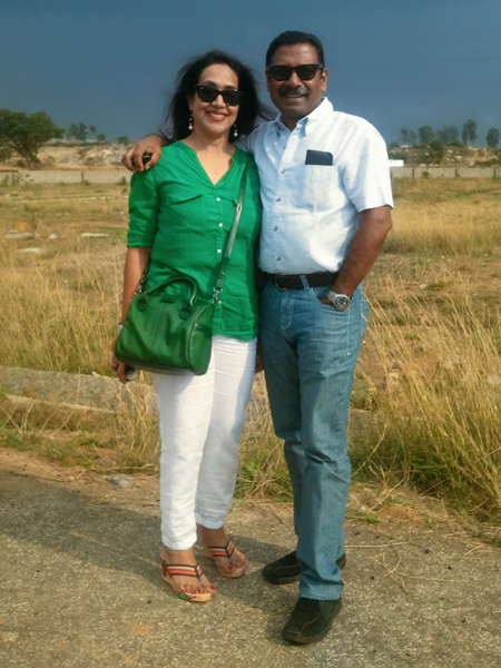 Rtn D Ravishankar and his spouse Paola.