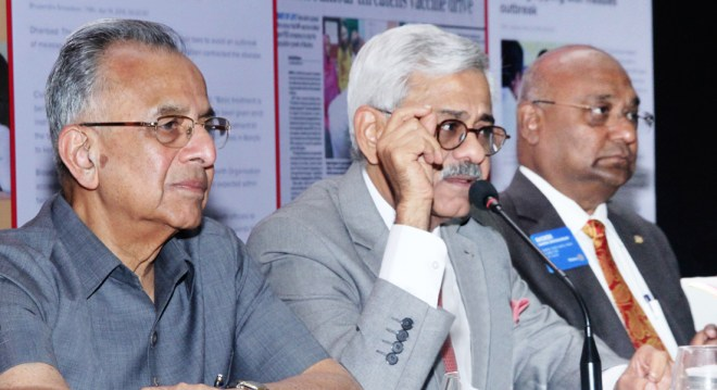 From L: PRIP Rajendra K Saboo, INPPC Chair Deepak Kapur and RID C Basker.