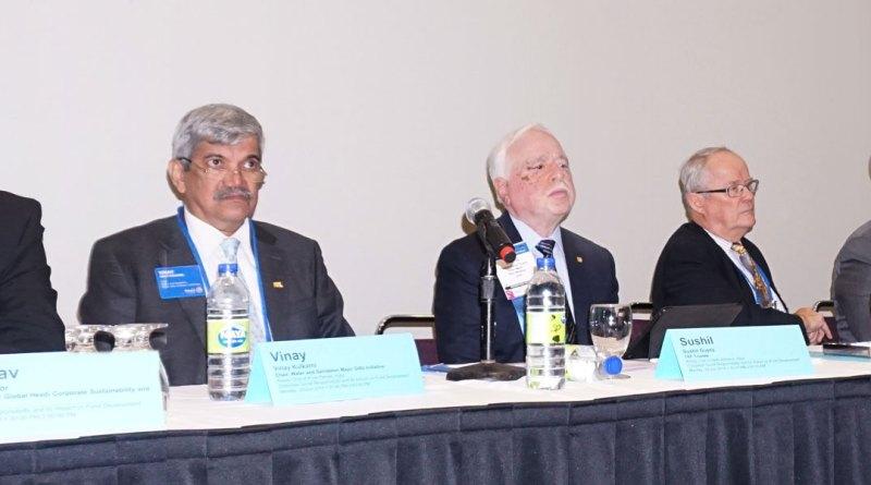 From L: Tata Technologies' Corporate Sustainability Head Anubhav Kapoor, PDG Vinay Kulkarni, TRF Trustee Sushil Gupta, PDG Louis A Johnson and TRF Trustee Bryn Styles.