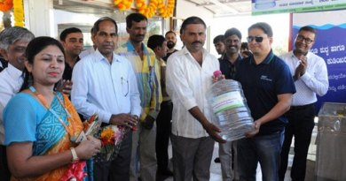Kalpana Srilalitha Prabhakaran (left), past president, RC Bangalore Whitefield Central, D 3190, at the inauguration of the Water ATM.