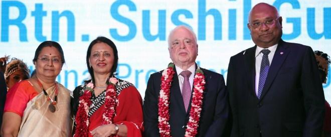 RID C Basker and Mala with RIPN Sushil Gupta and Vinita.
