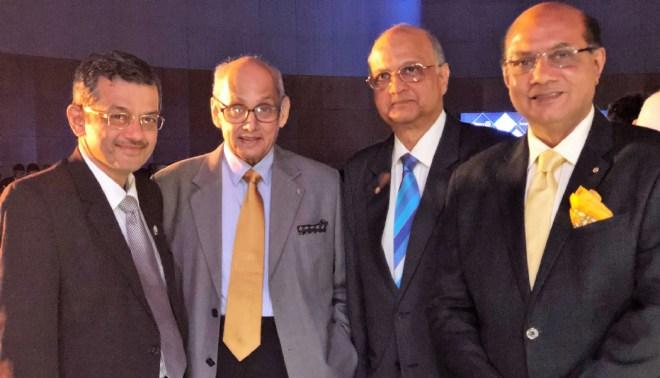 (From L) RIDE Bharat Pandya, PRIP Kalyan Banerjee, TRF Trustee Gulam Vahanvaty and RIDE Kamal Sanghvi.