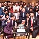 Rotaractors meet President Rassin