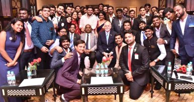 RI President Barry Rassin and RID C Basker with DRRs and Rotaract officials at the Institute.
