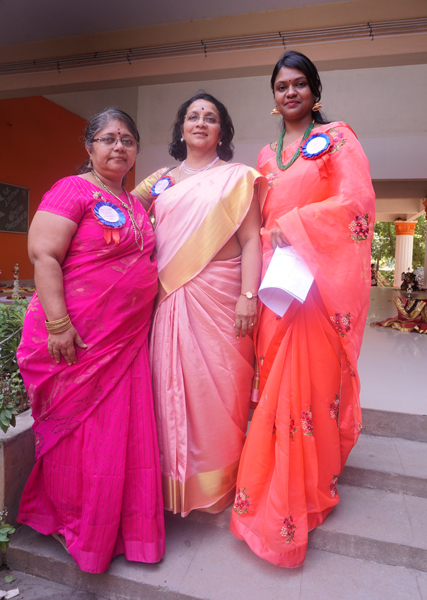 From L: Sujatha Chandra Bob, Usha Ajith Prasad and Event Chairperson Nandhini Nirmal.