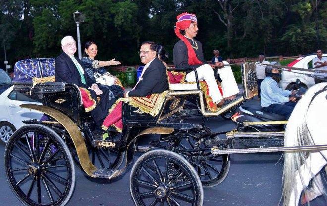 RIPN Gupta and Vinita with PDG Ashok Gupta