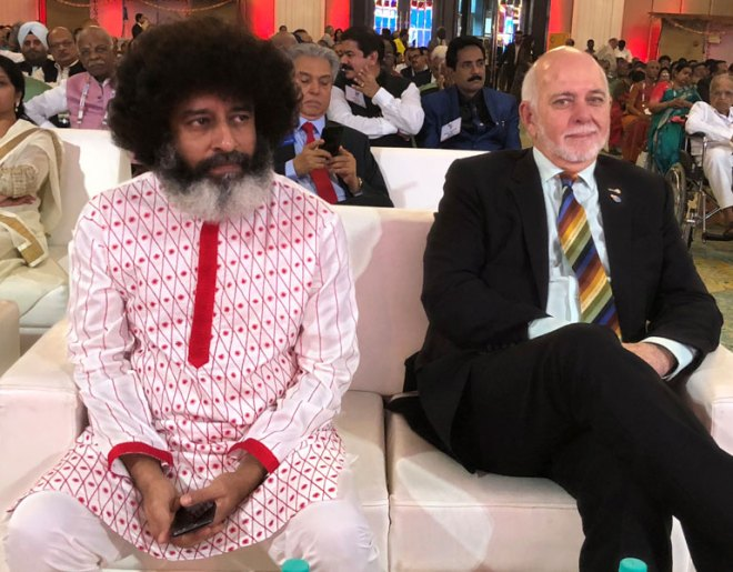 RI President Barry Rassin with Mahatria Ra.