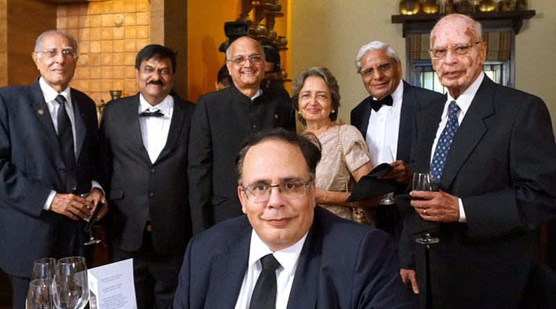 Newly inducted AKS members Nick (R) and Manoj Israni (seated) with Satya Agarwala, Leela, TRF Trustee Gulam Vahanvaty, Sanjiv Kulkarni and Firoz H Kachwalla.