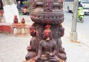 An idol in the Maiti Devi temple in Kathmandu.