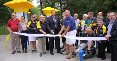 Along with other local Rotary clubs, the Rotary Club of Peterborough Kawartha is all about serving the community, such as helping to fund the community's first outdoor adult gym in Beavermead Park in 2018. But it's not all hard work in Rotary; there's also a strong social component featuring a lot of camaraderie and a lot of fun. Photo: Jeannine Taylor / kawarthanow.com