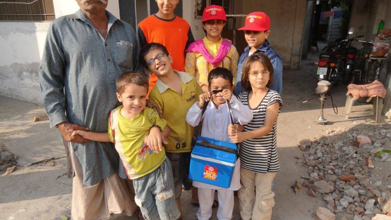 Rotary's End Polio programme in Pakistan.