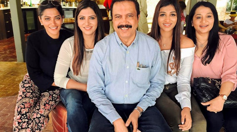 Azad Moopen, Chairman, Aster DM Healthcare Group, with wife Naseera and daughters Ziham, Alysha and Zeba.