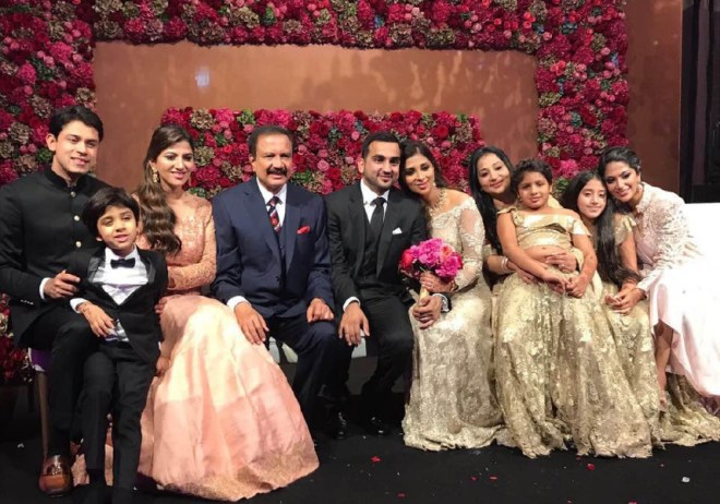 Azad Moopen with his family.